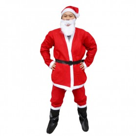 Extra L Christmas Clothing Five in One Santa Clothes Non-woven Adult Clothes