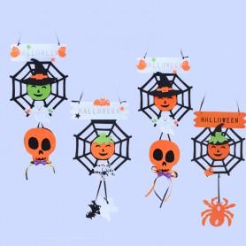 Halloween Haunted Ornaments Decorated Spider Door Hanging Hanging Dress Up Spider Pumpkin Hanging Door