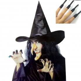 Fool Day Holder Halloween Costume Witch Hat Fake Nail Nose Pose Combination