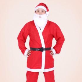 L Christmas Costume Christmas Men Clothing Santa Claus Dress Up Christmas Decorations Set