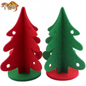 Non-woven Three-dimensional Christmas Tree Christmas Decoration Ornaments Pendant Hotel Shopping Malls Decorated Red and Green Christmas Tree