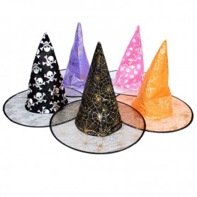 Halloween Supplies Witch Dress Up Witch Gauze Double Wizards Hat Hooded Jacket Blend