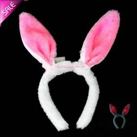 Light Rabbit Ears Flashing Rabbit Hair Band Hoop Headband Hair Ornaments Plush Rabbit Ears Halloween Batch
