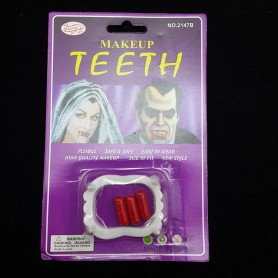 Halloween Supplies Whole Body Funny Toys Zombie Dentures Horror Dentures with Plasma Dentures