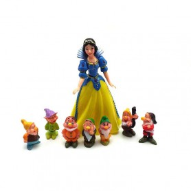 Snow White Seven Dwarf Cake Dolls Micro Landscape Decoration Toys Anime Hand