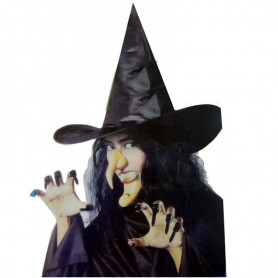 Halloween Costume Clothing Witch Hat Denture Nail Nose Chin Combination