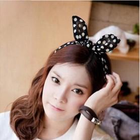 Variety Chiffon Fabric Rabbit Ear Hair Bow Bow Round Dot Card