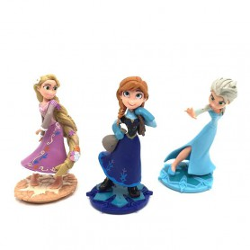 Frozen 2 Style Elsa Anna Princess Cake Shape Accessories Doll Handmade Micro Landscape Decoration