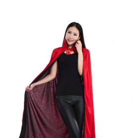Halloween Costume Death Cloak Vampire Cloak Red Black Two-color Cloak Double Cloak