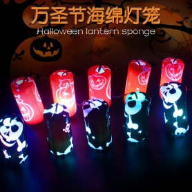 Halloween Luminous Sponge Lanterns Electronic Glowing Toys Children Small Gifts Portable Lanterns