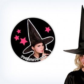 Halloween Witch Hat Wizards Hat Harry Potter Hat Pure Black Spire Hat Oxford Hat