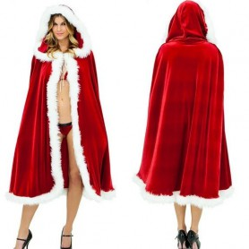 Christmas Costume Red Christmas Cloak Adult Male and Female General Sexy Europe and The United States Fashion Cloak Cloak