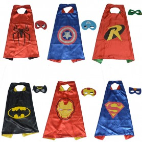 Halloween Cloak Child Man Captain Batman Makeup Apparel Robin Cloak Iron Man
