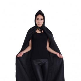 Halloween Costume Witch Cloak Demon Cloak Vampire Cloak Witch Black Cloak M with Cap