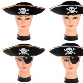 Halloween Performance Pirate Hat Pirate Performance Hat Caribbean Pirate Captain Hat