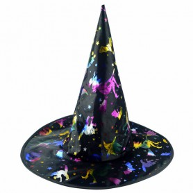 Halloween Witch Shadows Makeup Show Gold Witch Hat Hat