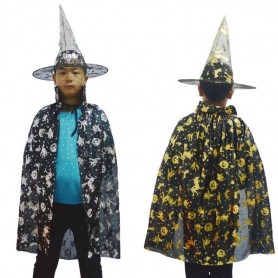 Halloween Costume Child Witch Cloak Child Cloak Witch Treasure Golden Silver