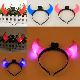 Halloween Horns Lights Products Tourist Attractions Toys Children Shiny Horns Headdress Hair Ornaments
