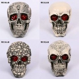 Halloween Scene Dress Up Resin Simulation Human Skull Illness Skull Skull Model Terror Trick Decoration