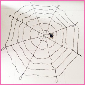 Halloween Scene Layout Haunted House Decorated Thick Wire Spider Web M Spider Web 6 Lap with Spider