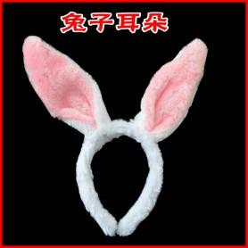 Halloween Supplies Cartoon Headband Hair Ornaments Pink Rabbit Ears Long Ears