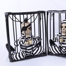 Halloween Supplies Ktv Haunted House Decoration Ghosts Horror Toys Voice Hanging Prisoners Prisoners Hanging Ghosts