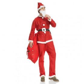 Christmas Adult Men Style Santa Claus Costume Christmas Performance Christmas Gift Set