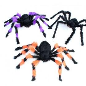 Halloween Costume Ornaments Whole Man - Black Plush Spider Flower Spider Spider
