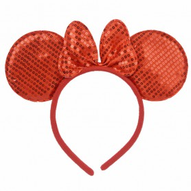 Halloween Headband Makeup Dress Red Mouse Mice Minnie Ear Two Hair Bands