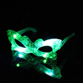 Makeup Halloween Decoration Led Flash Glasses Glowing Funny Glasses Transparent Mirror Frame Multi-style Mixed Hair