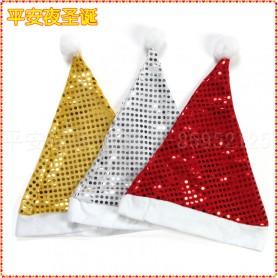 Christmas Hat Headdress Christmas Decorations Fine Santa Claus Hat Sequins Christmas Hat Christmas Hat