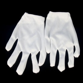 Halloween Dress Up Mechanical Dance White Gloves White Gloves Hip-hop Gloves Magic Gloves Cotton