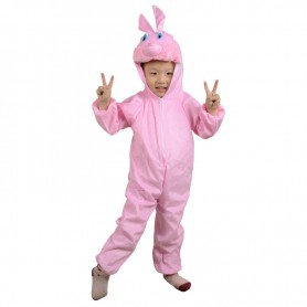 Christmas Children Bunny Clothing Animal Clothing. Children Dance Performance Powder Pink Rabbit