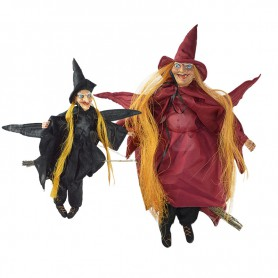 Halloween Ktv Scene Decorative Flying Witch Pendant Witch Exalters Horror Strap