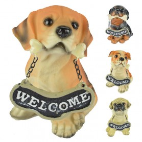 Resin Crafts Animal Home Decoration Decoration Dog Model Office Lucky Simulation Dog Dog Child Gift