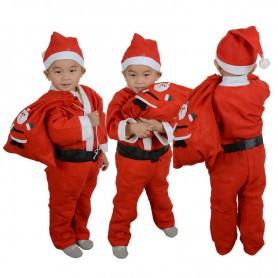 Christmas Eve Activity Child Little Boy Dress Up Pla Santa Claus Suit Suit