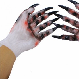 Halloween Gaekje Cosmetics Zombie Beast Dress Up Terror Men and Women Style Devil Skeleton Gloves