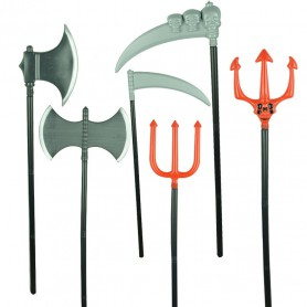 Halloween Simulation Weapon Stage Performance Children Toy Plastic Weapon Trident Ax Death Sickle