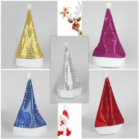 Christmas Clothes Hat Christmas Hat Christmas Hat Sequin Santa Claus Hat Adult Child