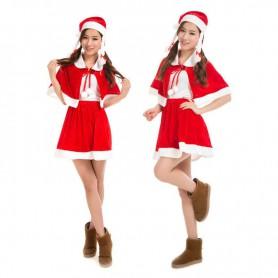 Christmas Costume Dress Christmas Velvet Skirt Suit Costume Stage Performance Costume