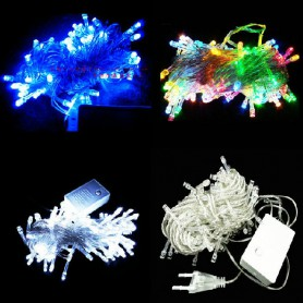 Christmas Lights Led Lights String Flashing Lights Christmas Lights String Decorative Lights Stars Stars String 10 Meters White Blue