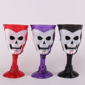 Halloween Ktv Party Scene Dress Up Horror Creative Face Glowing Wine Cup