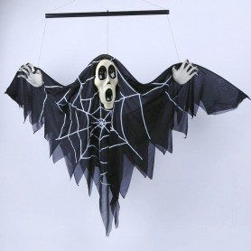 Halloween Supplies Ghost Ghost House Decorative Voice Electric Bats Ghosts Horror Ghosts Pendant