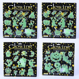 Halloween Scene Decoration Supplies Luminous Paste Green Glass Stickers Window Window Ghost Festival Jewelry