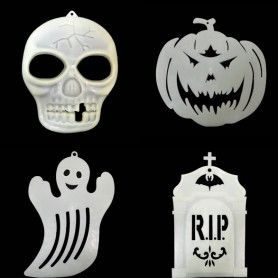 Halloween Scene Decoration Supplies Luminous Stickers Glass Stickers Window Pants Ghosts Ornaments Pendant