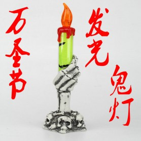 Halloween Decoration Makeup Arrangement Products Led Light Candlestick Candle Light