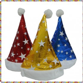 Christmas Gifts Christmas Hat Hat Santa Claus Hat Five-pointed Star Christmas Hat