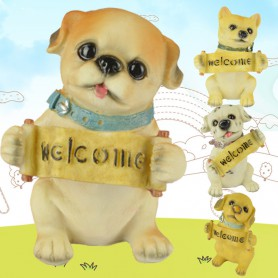 Dog Model Simulation Animal Save Money Tank Resin Puppy Home Interior Interior Decoration Decoration Photography