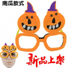 Halloween Dress Up Men and Women Glasses Pumpkin Witch Skeleton Modeling Glasses