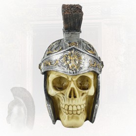 Halloween Horror Decoration Ghost Room Secret Room Escape Scene Decoration Person Skull Simulation Ghost Roman Helm